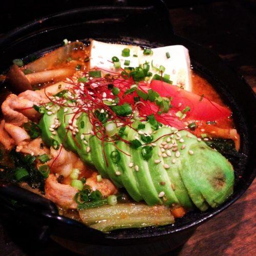 アボカドとトマトチゲ鍋 1300円