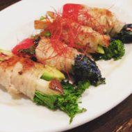 アボカドと季節野菜の肉巻き